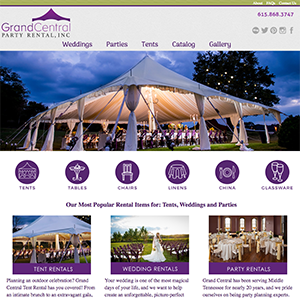 Grand Central Party Web Design