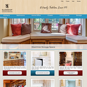 Sleenhof Wood Works Web Design