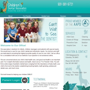 Childrens Dental Web Design