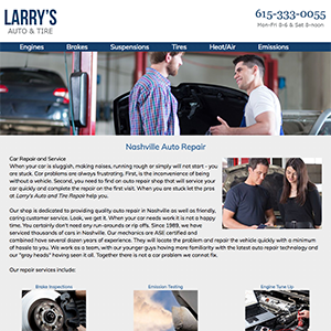 Larry's Auto and Tire Web Design